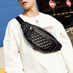 ETONWEAG - 仿皮绗缝铆钉腰包