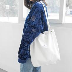 Eastin - 貼布繡燈芯絨手提袋