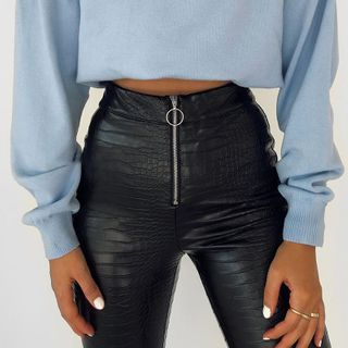 FYDO - Faux Leather Skinny Pants