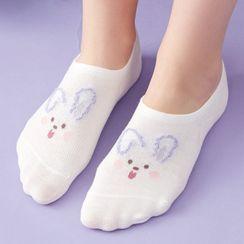 Knit a Bit - Print No Show Socks