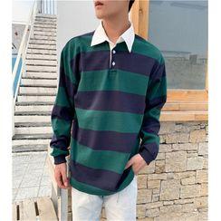 Turazin - 条纹长袖马球衫