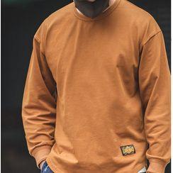 Maden - Plain Long-Sleeve T-Shirt