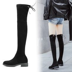 Fale - Low-Heel Over-The-Knee Boots