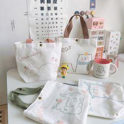 Baburu - Bear Print Canvas Tote Bag