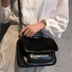 Montomery - Faux Leather Shoulder Bag