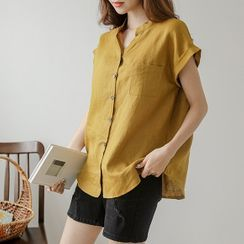 JUSTONE - Rollup Dolman-Sleeve Linen Shirt