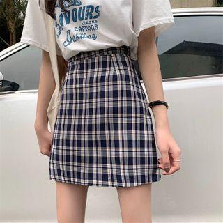 OUREA - 格纹A字裙