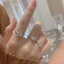 Zatanna - 水钻纯银戒指