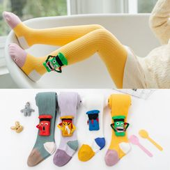 RoRoRi - Kids Cartoon Color Block Tights