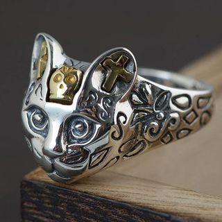 Andante - 925纯银小猫戒指