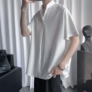 Furtheron - 中袖純色襯衫