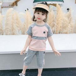 ChibiJia - Kids Set: Short-Sleeve T-Shirt + Shorts
