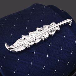 Seaton(シートン) - Feather Alloy Tie Clip