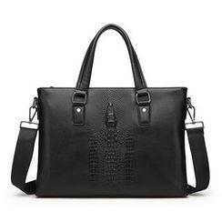 Mayanne - Genuine Leather Laptop Shoulder Bag