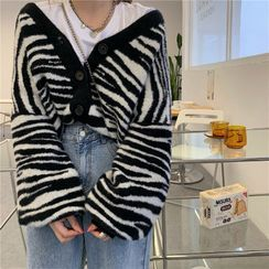 Moon City - Zebra Print Cardigan