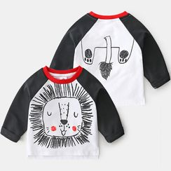 Seashells Kids - Kids Long-Sleeve Raglan Printed T-Shirt