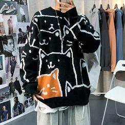 Oakjam - Cat Pattern Sweater