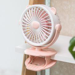 Vitarix - Rechargeable Cat Ear Clip On Fan