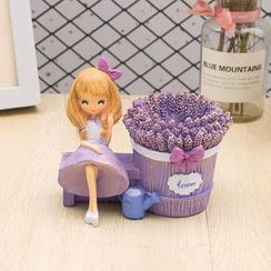 Oolulu - Lavender Girl Resin Desk Ornament