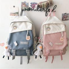 MUSIS - 双色尼龙背包