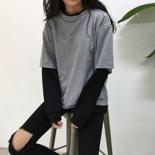 Kira Kira - T-shirt effet deux pièces à manches longues