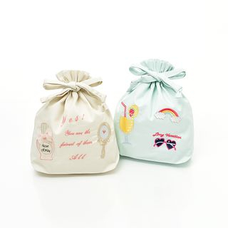 UNISON - Embroidered Drawstring Bag