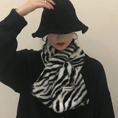 Ashlee(アシュリー) - Zebra Print Scarf