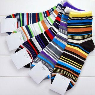 electroyinyang - Striped Crew Socks