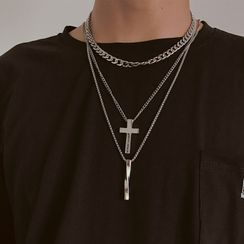 InShop Watches - Alloy Cross / Twisted Bar / Necklace / Set