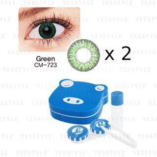 GEO - Magic 1-Year Color Lens CM-723 2tone Green x 2 + Lens Case