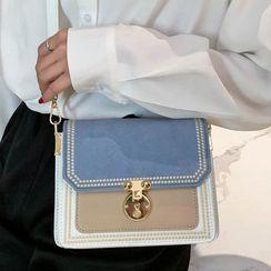Emvee - Faux Suede Crossbody Bag
