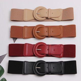 BLOCKHOUSE - Faux Leather Elastic Belt