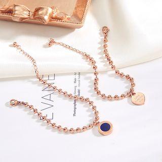 Savannah(サバンナ) - Stainless Steel Heart Bracelet