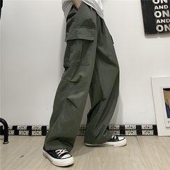 AXEN - Wide-Leg Cargo Pants