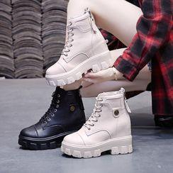 Sleeko - 厚底内增高系带短靴