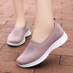 MINIKA - 厚底網紗輕便鞋