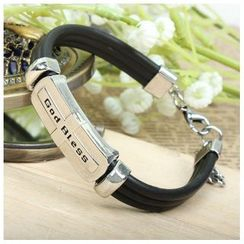 KINNO - Letter Stainless Steel Silicone Bracelet