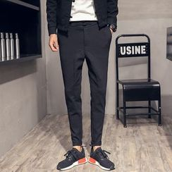 Orizzon - Plain Slim-Fit Pants