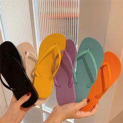Honkizz - Couple Matching Plain Flip-Flops