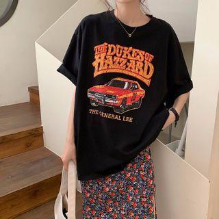 Ashlee - Floral Print Midi A-Line Skirt