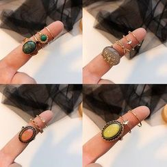 Dollu - Set: Retro Alloy Ring (assorted designs)