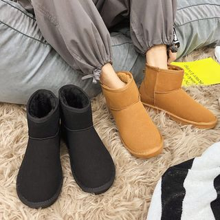 Solejoy - Plain Fleece Lined Short Boots