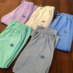 Freehop - High-Waist Applique Drawstring Sweatpants