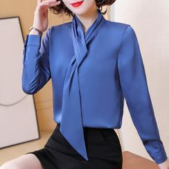 In the Mood - Satin Blouse