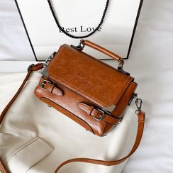 Fianna - Faux Leather Crossbody Satchel Bag