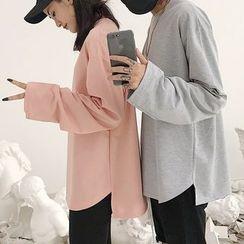 AXEN - Plain Long-Sleeve T-Shirt