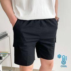 Seoul Homme - Linen Blend Cargo Shorts