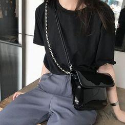 Masen - Patent Leather Crossbody Bag