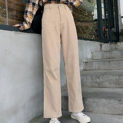 Dute - Corduroy Straight-Leg Pants
