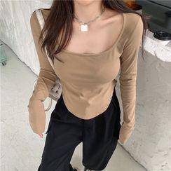 EROPIA - 长袖纯色上衣